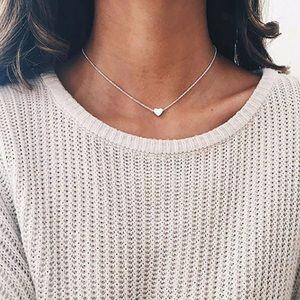 Jewelry - NWT Dainty Heart Silver Toned Necklace Jewelry
